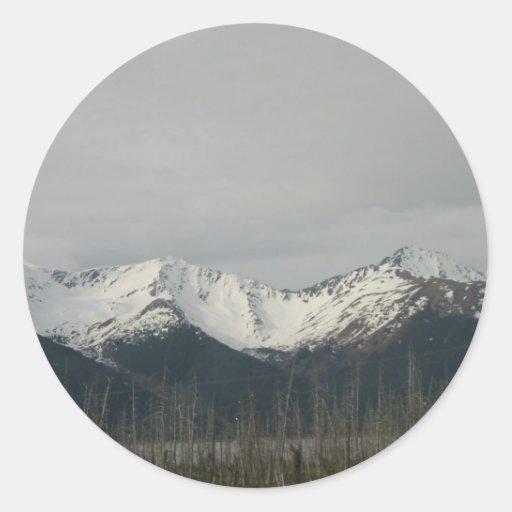 Alaska Pegatina Redonda
