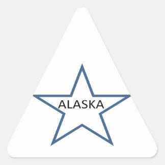 Alaska Pegatina Triangular