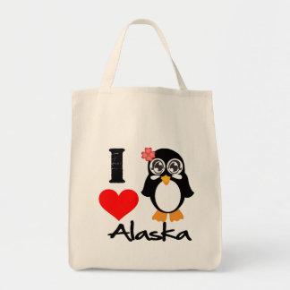 Alaska Penguin - I Love Alaska Bag