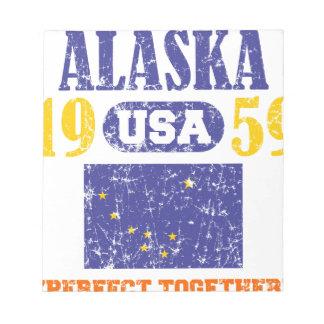 ALASKA PERFECT TOGETHER STATEHOOD NOTE PAD