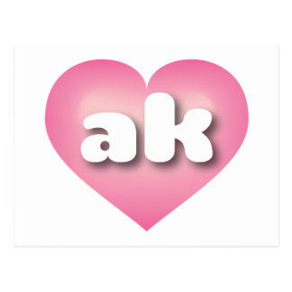 Alaska pink fade - mini love postcard