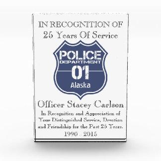 Alaska Police Department Shield 01 Award