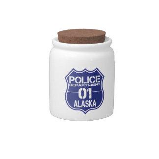 Alaska Police Department Shield 01 Candy Jar