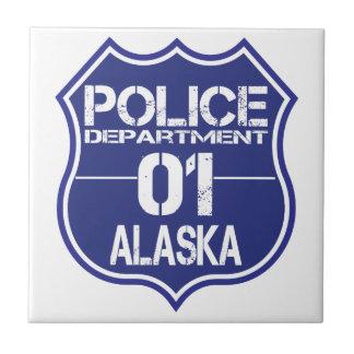 Alaska Police Department Shield 01 Ceramic Tile