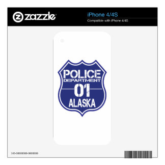 Alaska Police Department Shield 01 Decal For The iPhone 4S