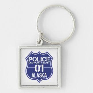 Alaska Police Department Shield 01 Keychain