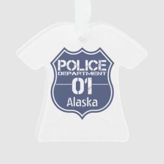 Alaska Police Department Shield 01 Ornament
