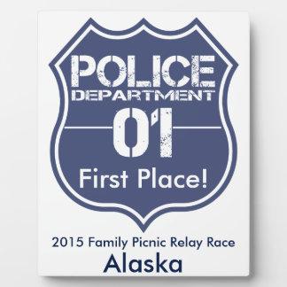 Alaska Police Department Shield 01 Plaque