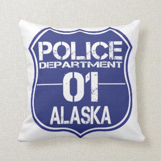 Alaska Police Department Shield 01 Throw Pillow