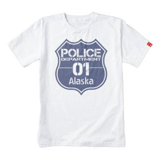 Alaska Police Department Shield 01 Zazzle HEART T-Shirt