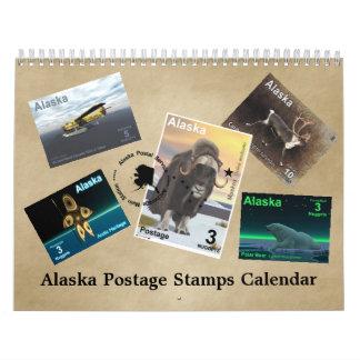 Alaska Postage Stamps Calendar