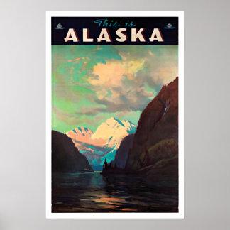 Alaska - posters del viaje del vintage