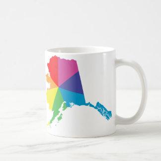 alaska pride. angled. classic white coffee mug