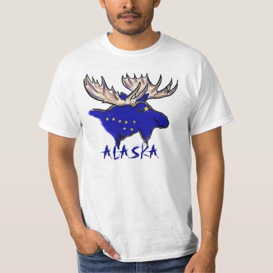 Alaska pride elk state flag customizable value tee