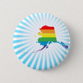 alaska pride. pinback button