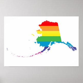 alaska pride. striped. poster