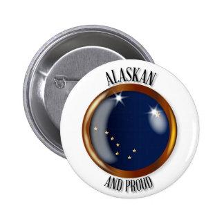 Alaska Proud Flag Button