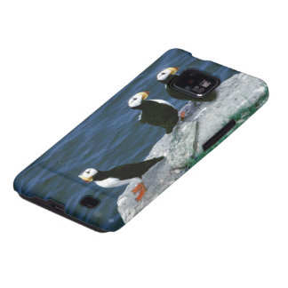 Alaska Puffins Feathered Colorful Birds Samsung Galaxy S2 Case