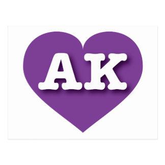Alaska purple heart - Big Love Postcard