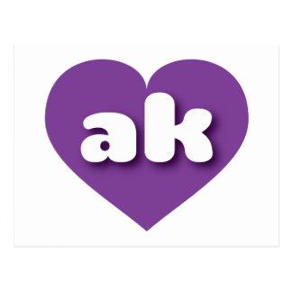 Alaska purple heart - mini love postcard