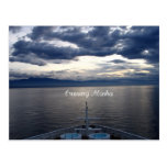 Alaska que cruza tarjeta postal