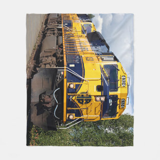 Alaska Railroad locomotive engine Fleece Blanket