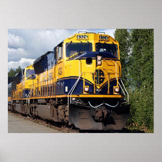 Alaska Railroad locomotive engine Poster