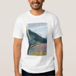 Alaska Railroad Scene - Fairbanks, Alaska Tee Shirt