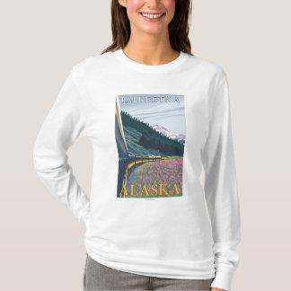 Alaska Railroad Scene - Talkeetna, Alaska T-Shirt