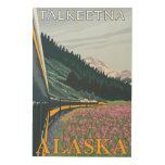 Alaska Railroad Scene - Talkeetna, Alaska Wood Canvases