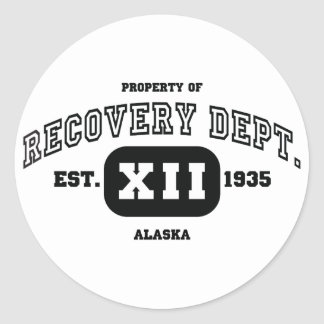 ALASKA Recovery Classic Round Sticker