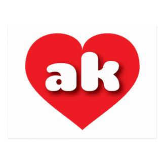 Alaska red heart - mini love postcard