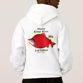 Alaska Red Salmon     Fish A rt japan Alaska Hoodie