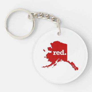 ALASKA RED STATE KEYCHAIN
