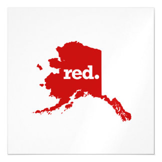 ALASKA RED STATE MAGNETIC CARD