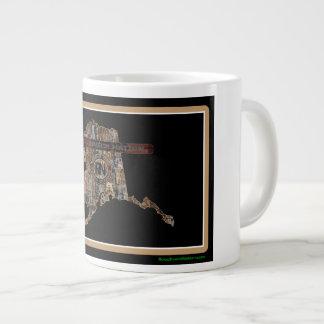 Alaska Rig Up Camo Giant Coffee Mug