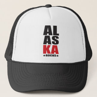 Alaska Rocks! State Spirit Gifts and Apparel Trucker Hat