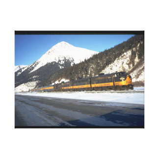 Alaska RR F-7 #1502, with train_Trains Canvas Print
