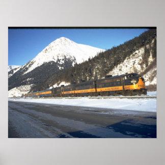 Alaska RR F-7 #1502, with train_Trains Poster