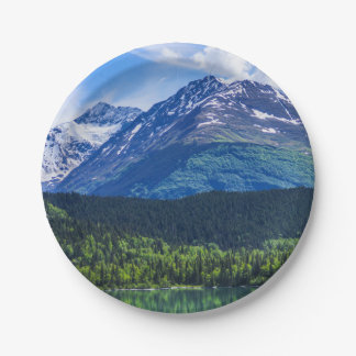 Alaska Scenic Byway Mountain Paper Plate