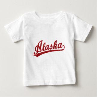 Alaska script logo in red baby T-Shirt