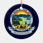 Alaska Seal Ceramic Ornament
