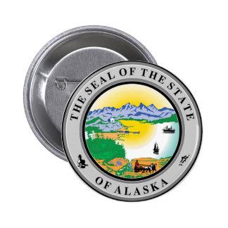 Alaska seal united states america flag symbol repu pinback button