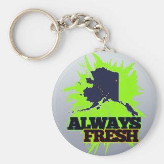 Alaska siempre fresca llavero redondo tipo pin