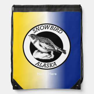 Alaska Snowbird Drawstring Backpack