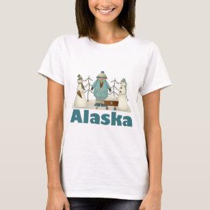 Alaska Snowmen T-shirt Gift