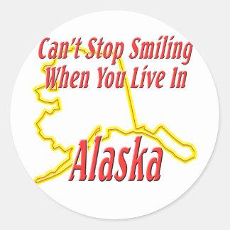 Alaska - sonriendo pegatina redonda