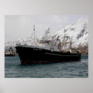 Alaska Spirit, F. C. A. Fishing Trawler Poster