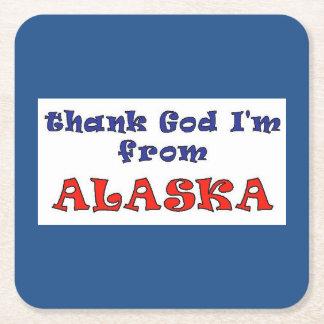 Alaska Square Paper Coaster