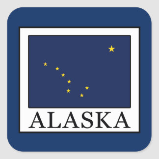 Alaska Square Sticker